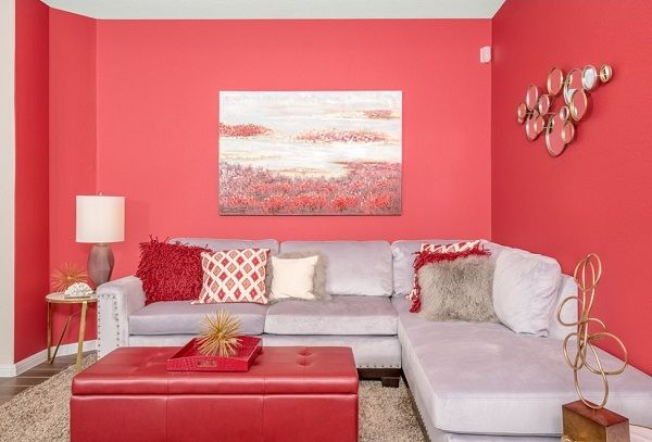 Red Living Room Design Ideas, Walls, Interior decor, Photos | Red ...