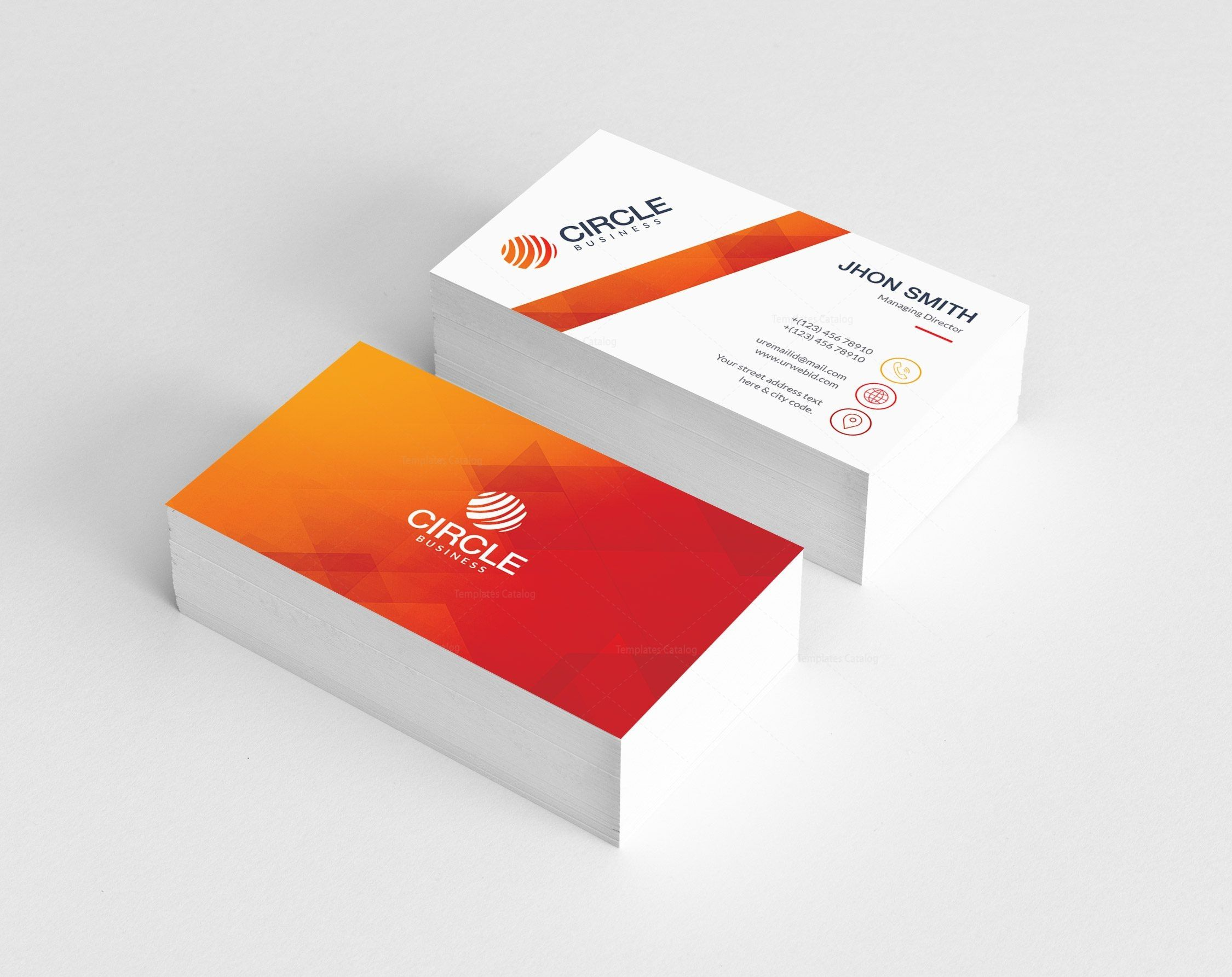 Orange Business Card Template Graphic Templates Business Card Template Business Card Template Design Card Template