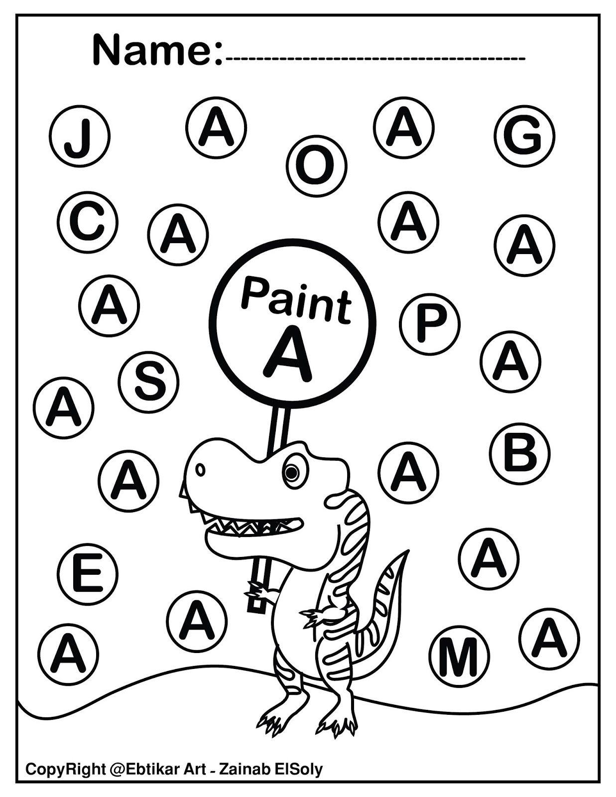 Set Of Abc Dinosaur Trex Activity Paint A Dot Preschool Coloring Sheets Abc Worksheets Abc Coloring Pages Kindergarten Coloring Pages [ 1600 x 1237 Pixel ]