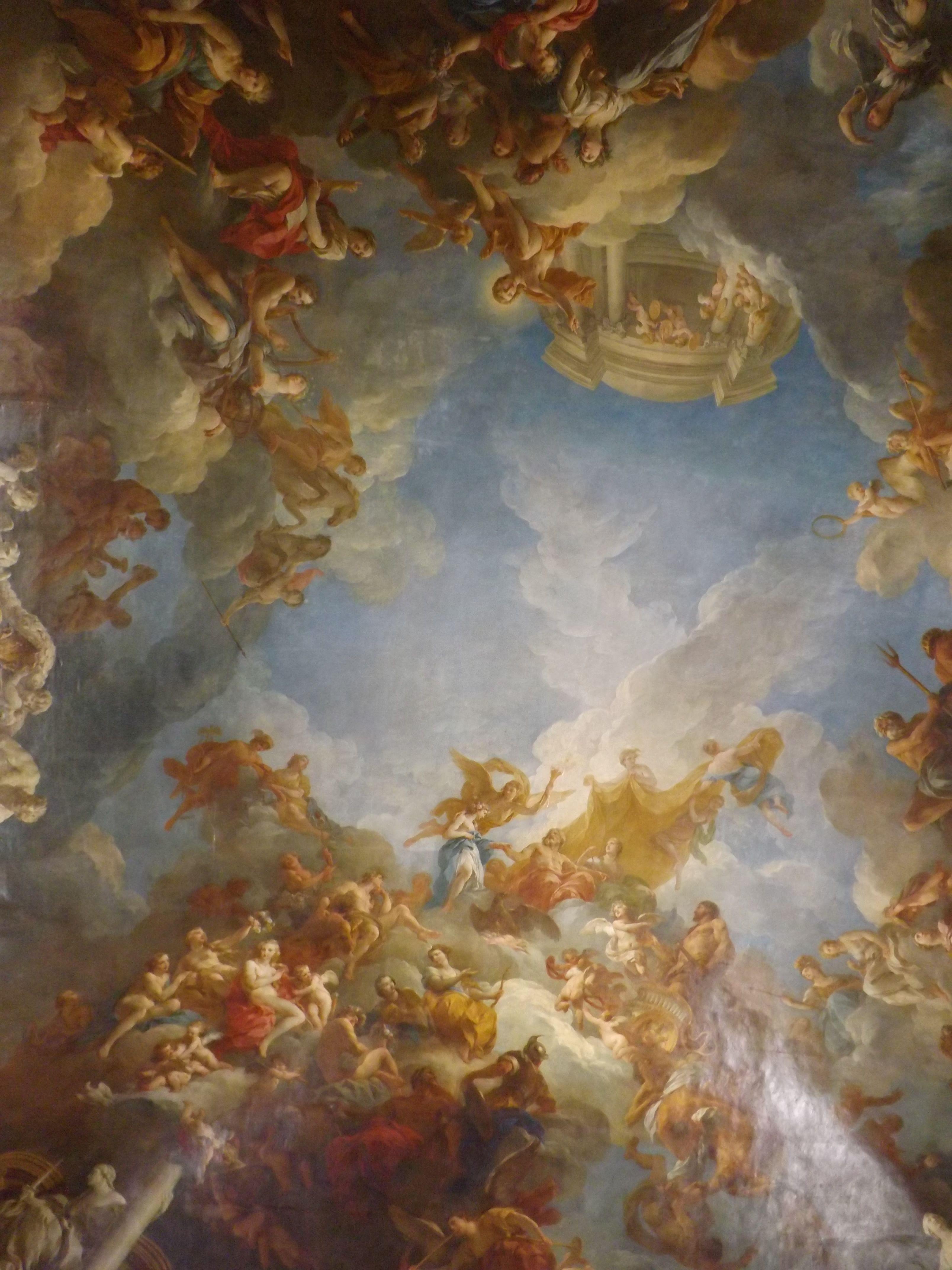 The Ceiling Of The Hercules Salon Versailles Photo Wendyjames July 2013 Renaissance Art Aesthetic Art Baroque Painting