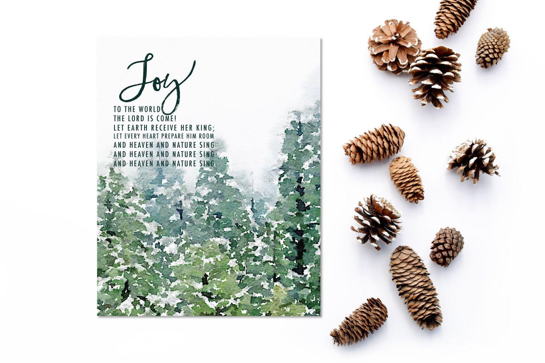 Joy to the World Christmas Print | holiday love | Pinterest ...