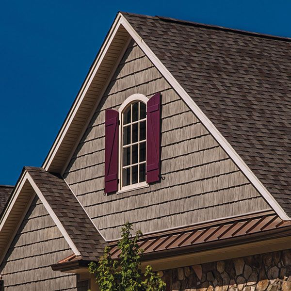 10 Inch W X 62 1 2 Inch L Exposure Vinyl Staggered Shakes 23 Panels Ctn 100 Sq Feet Shingle Exterior House Exterior Vinyl Siding