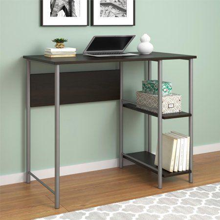 ameriwood home garrett metal office desk with 2 side shelves rh pinterest com
