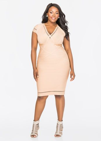 Mesh Trim Bodycon Bandage Dress Aesthetics Pinterest Curves