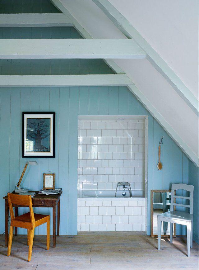 5 salles de bains mansardées aussi rusées que pleines de charme