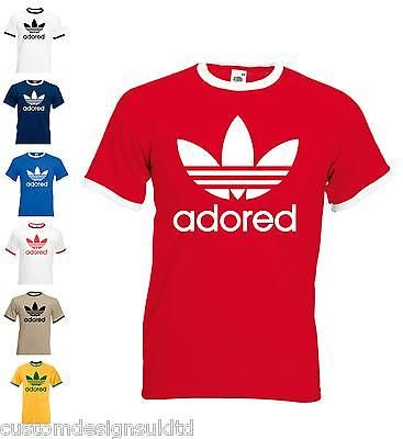 d150d4cb6cb stone roses adidas adored ian brown aniversary ringer T-shirt ALL SIZES !!!