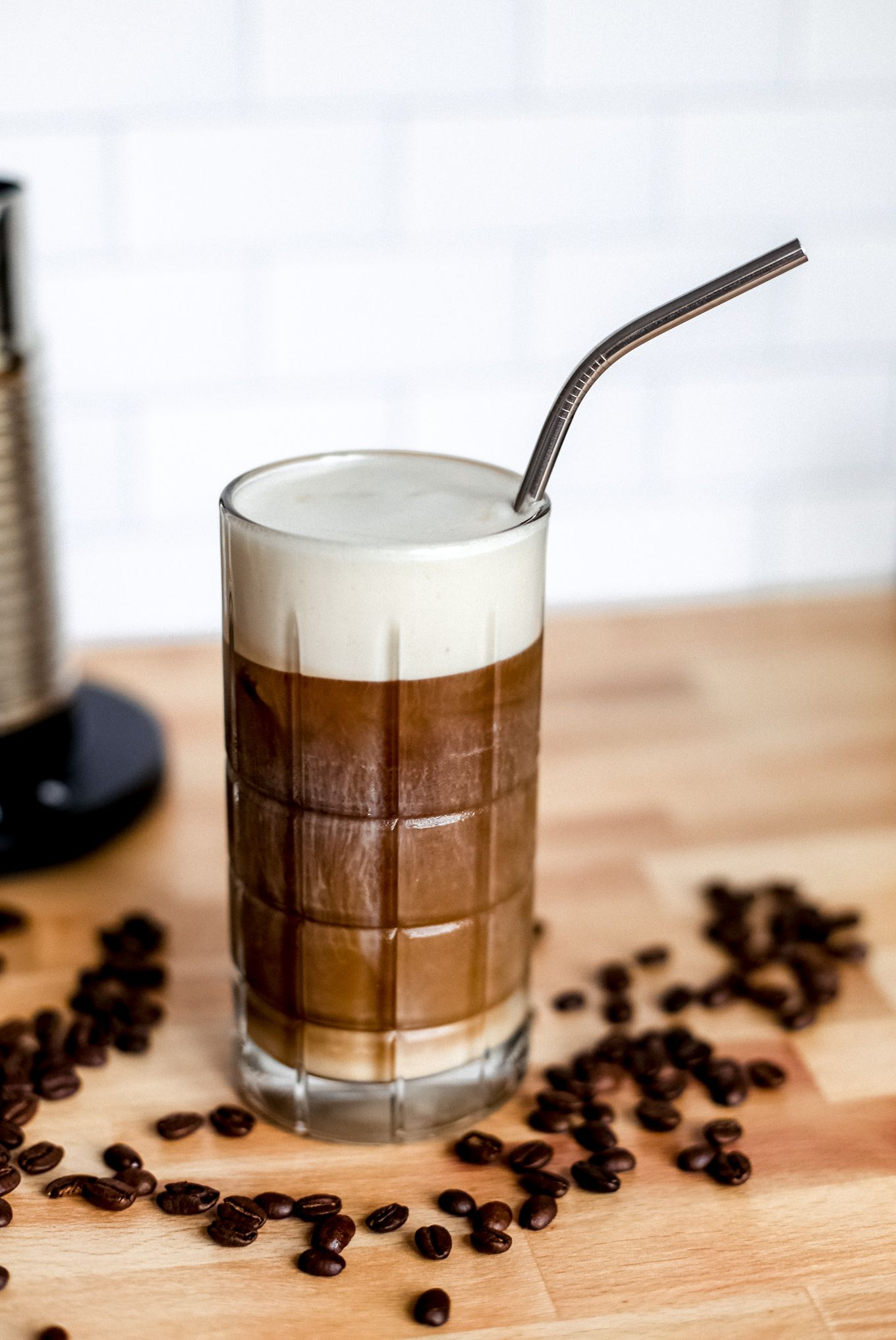 How to make iced latte iced latte homemade iced coffee