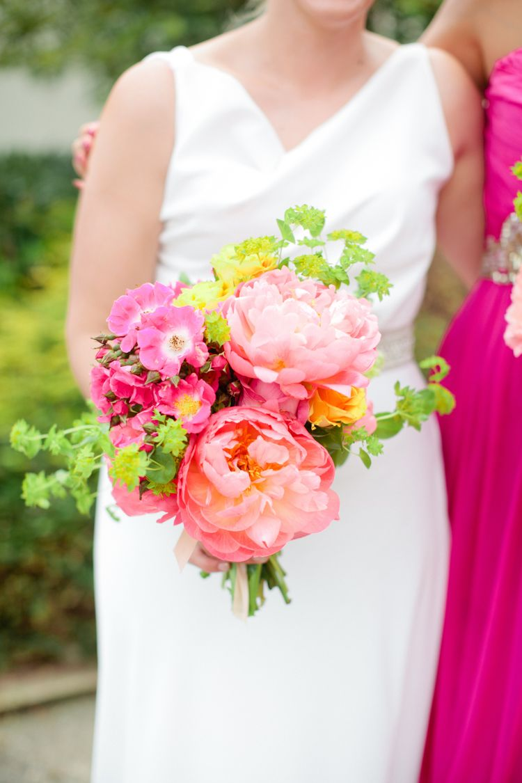 Colourful Pastel Home Made Farm Wedding | Wedding Bouquets ...