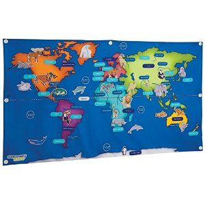 Amazon.com: Discovery Kids Fabric Activity World Map: Toys & Games ...