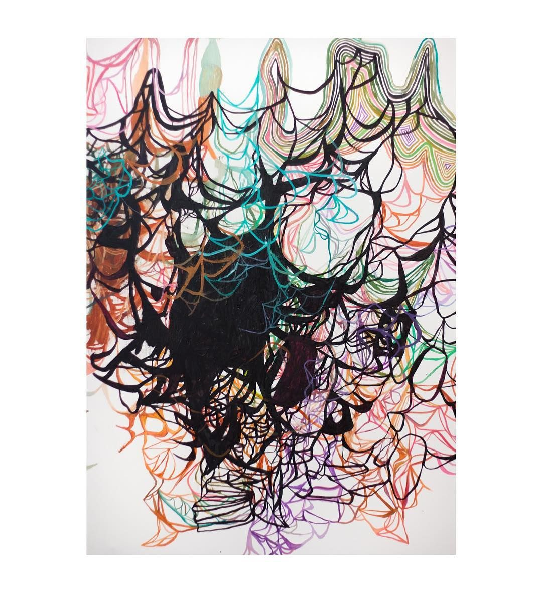 Olav Christopher Jessen at @gallerisusanneottesen. Full video from the opening see link in bio. #theExpedition #OlavChristopherJenssen #art #artist #gallery #artlandapp