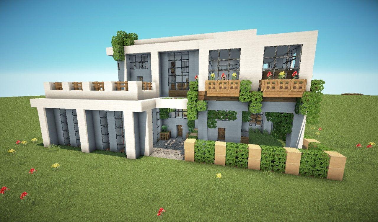 villa minecraft modernes haus tricks. Black Bedroom Furniture Sets. Home Design Ideas