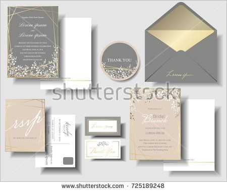 Misure Brochure 2 Ante.Set Of Pink And Gray Has A Small Flower And Gold Frame Wedding