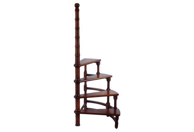 Best Mahogany Library Stairs Mahogany Library Stairs With Four 640 x 480