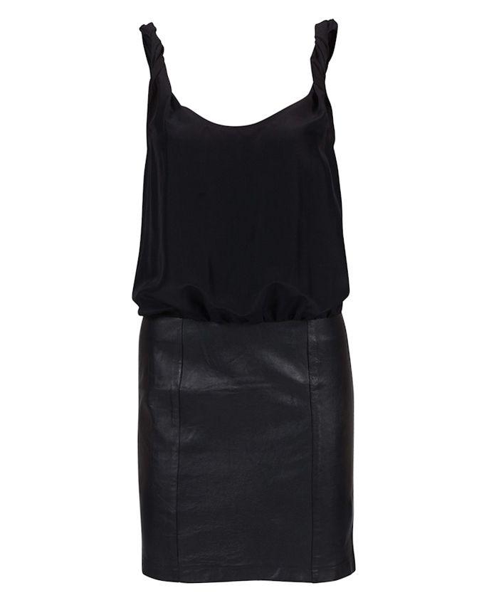 Classy & Edgy LBD by Gestuz #Fashion #Dress #Leather