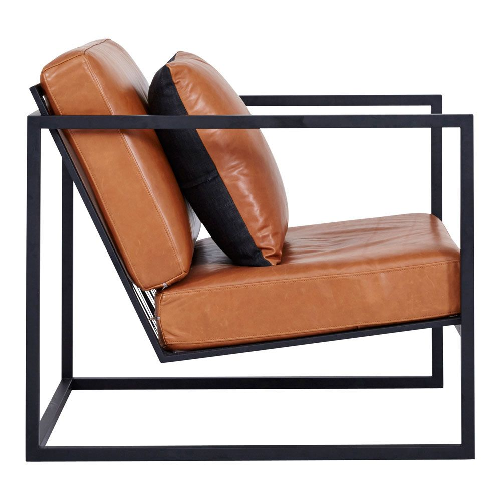 black metal frame accent chair