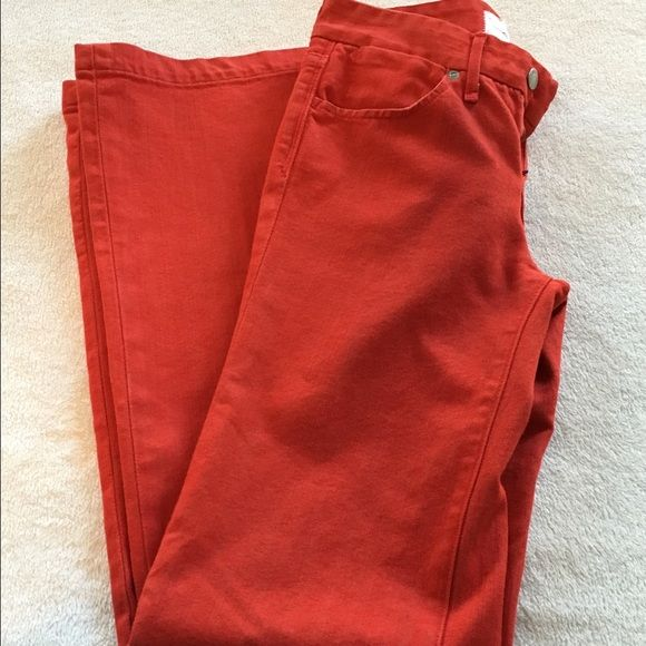 "Paper Denim & cloth jeans. Red. Size 26 Flawless Red Paper Denim & Cloth jeans. Jayne Medium rise wide leg. Inseam 33"". Absolutely Flawless!! Paper Denim & Cloth Jeans Flare & Wide Leg"