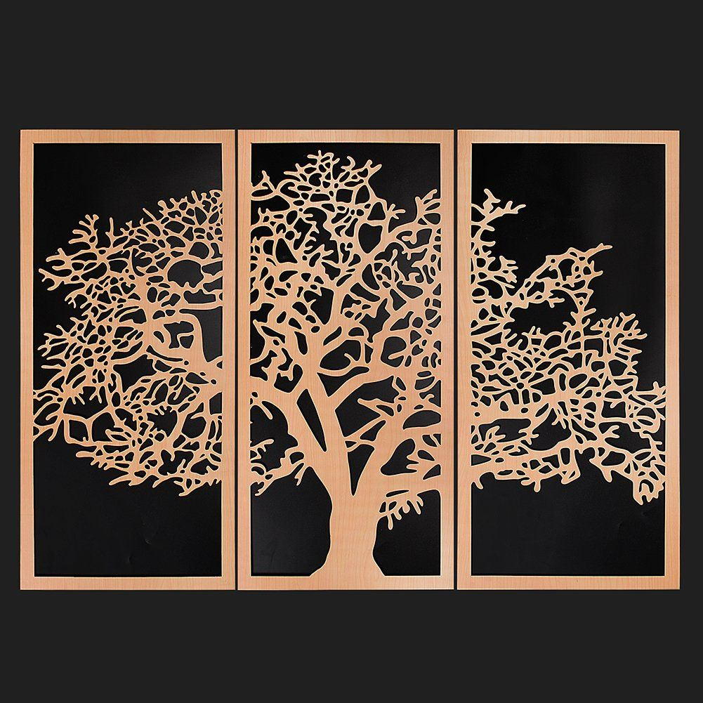 Kavani Tree Of Life 3 Panel 3d Wooden Wall Art For Home Decor 46 1 X