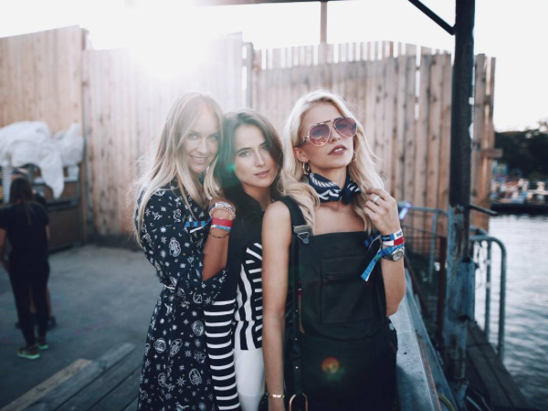 Beautiful ladies; @carodaur, @lenalademann @bloggerbazaar in TOMMYXGIGI