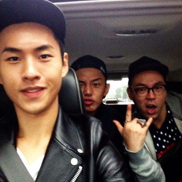 Yoo Ah In Spinle Yeh's instagram 「Let's continue bitchy lesson 6 in Seoul ☺️miss you guys @raymondchae @uhmhongsik #fun #party #trip #inthecar #taipei #taiwan #korea #korean #seoul…」
