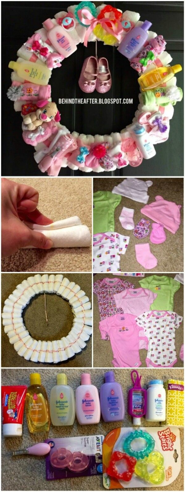 25 enchantingly adorable baby shower gift ideas that will make you diaper wreath solutioingenieria Image collections