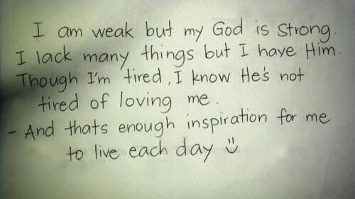 I am weak but God is strong