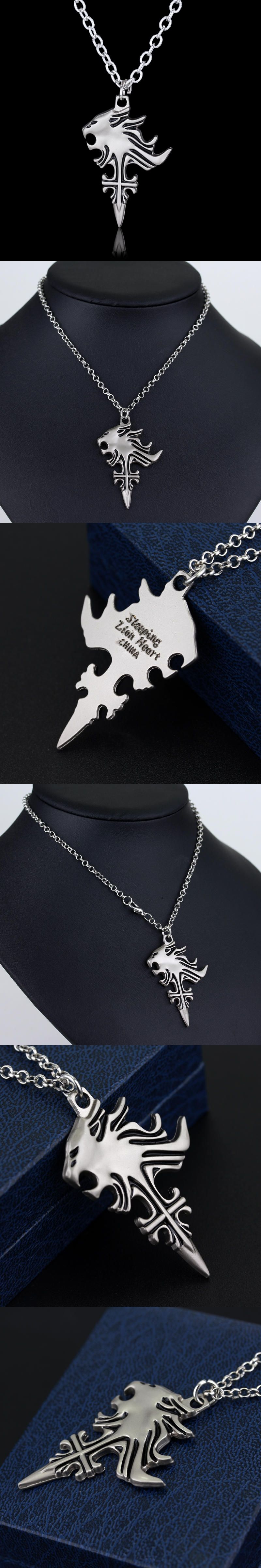 Newest anime final fantasy viii 8 griever squall leonhart lion head newest anime final fantasy viii 8 griever squall leonhart lion head necklace cosplay necklaces pendants mozeypictures Image collections