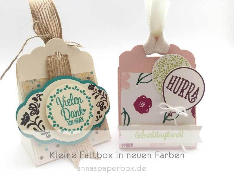 Kleine Faltbox in neuen Farben - anna's paperbox
