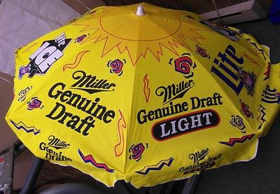 German Beer Umbrellas Vtg Miller Lite Beer Mgd 6ft Patio Umbrella