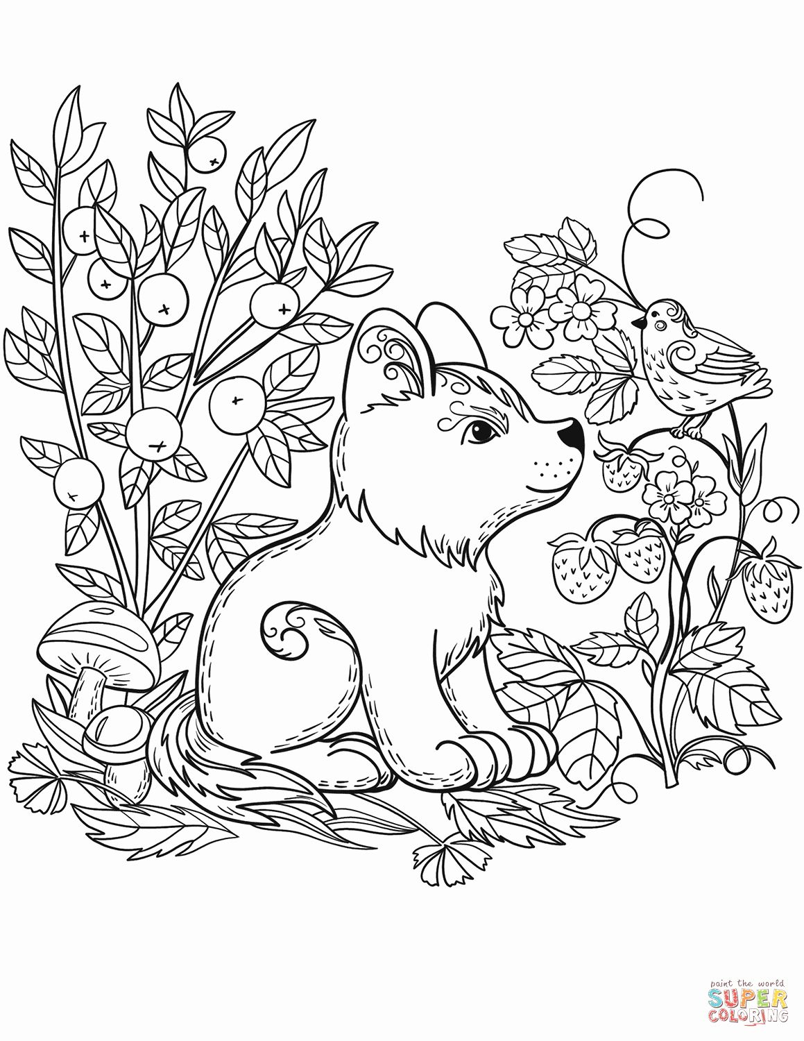 Free Woodland Animal Coloring Pages Fresh Puppy Dog In the