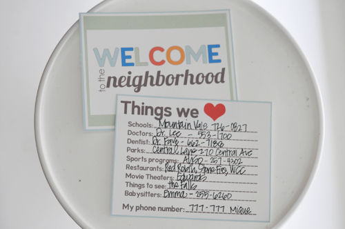 Welcome To The Neighborhood Printable Our Favorite Things List Fabulous Idea