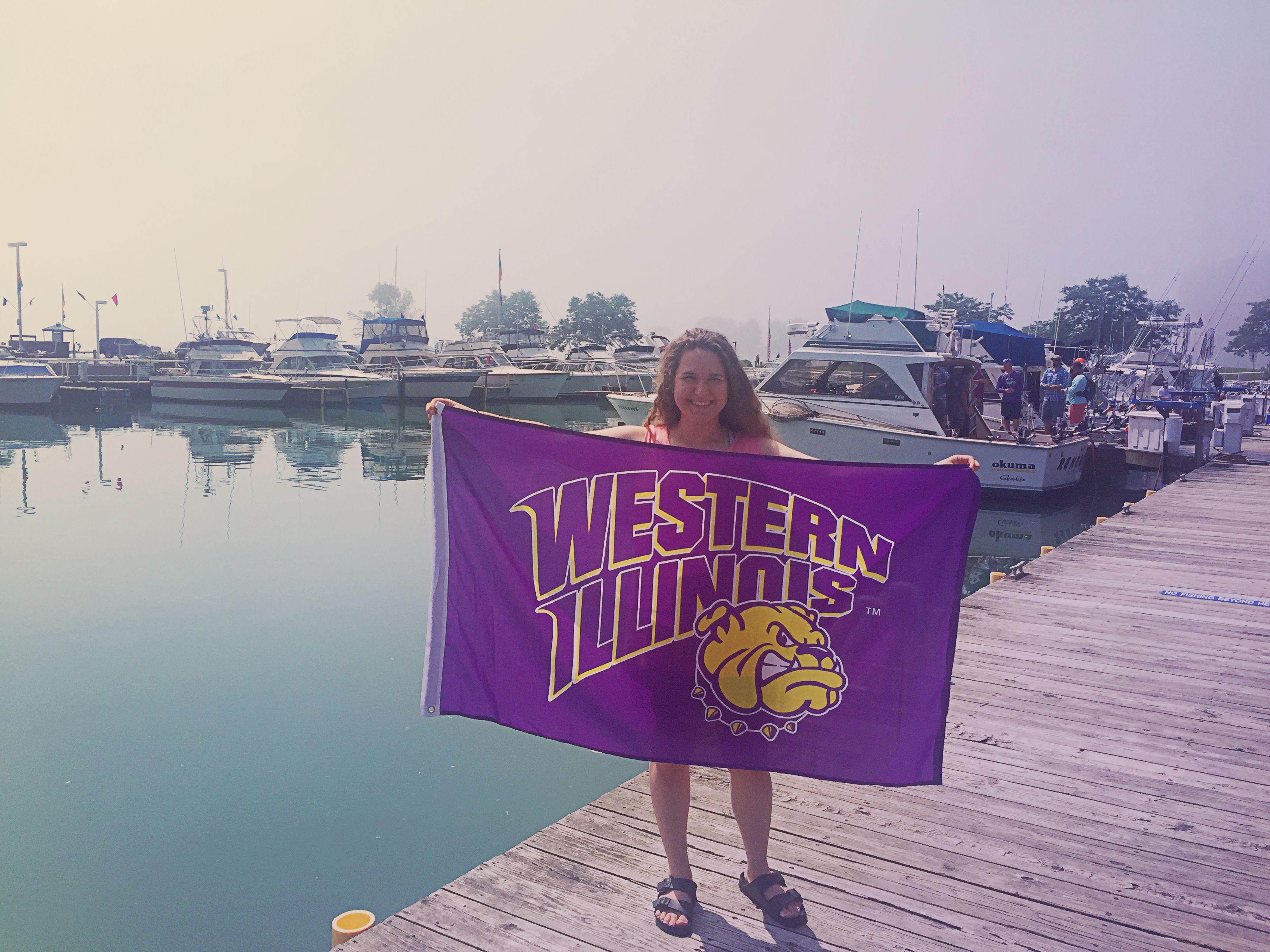 Representing Western Illinois University in Port