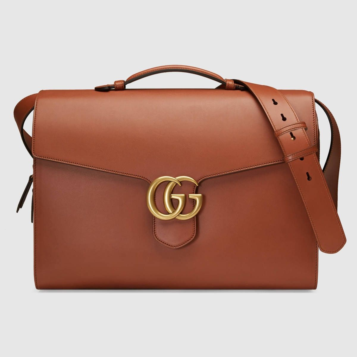 da21044a3ea4 GUCCI Gg Marmont Leather Briefcase - Cuir Leather. #gucci #bags #leather  #lining #accessories #shoulder bags #phone case #hand bags #cotton #