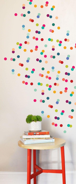 Best Wall Decal Rainbow Tiny Dots Wall Sticker Room Decor 400 x 300
