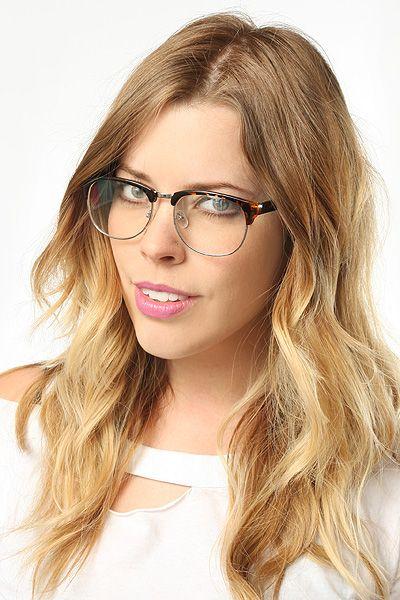 club master glasses  Zara\u0027 Unisex Clear Clubmaster Glasses - Black - 5108-1