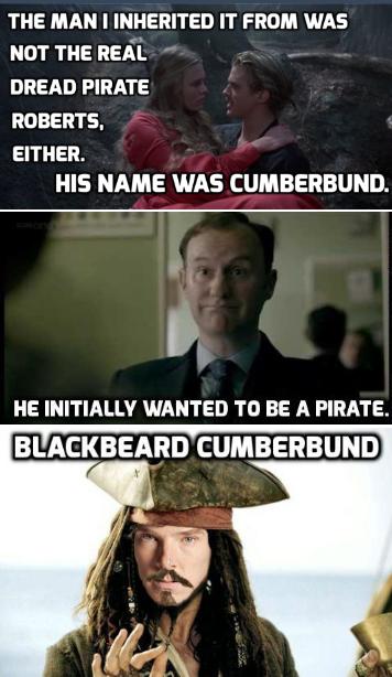 Blackbeard Cumberbund  #Sherlock #PrincessBride #Pirate #Blackbeard
