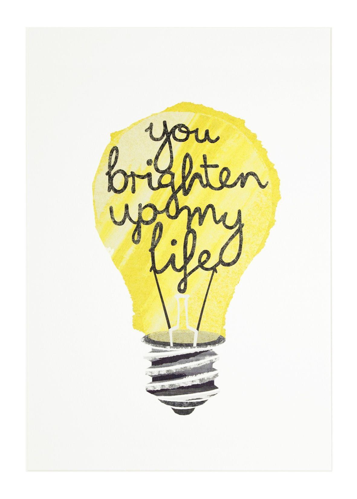 Paper Lightbulb Print In