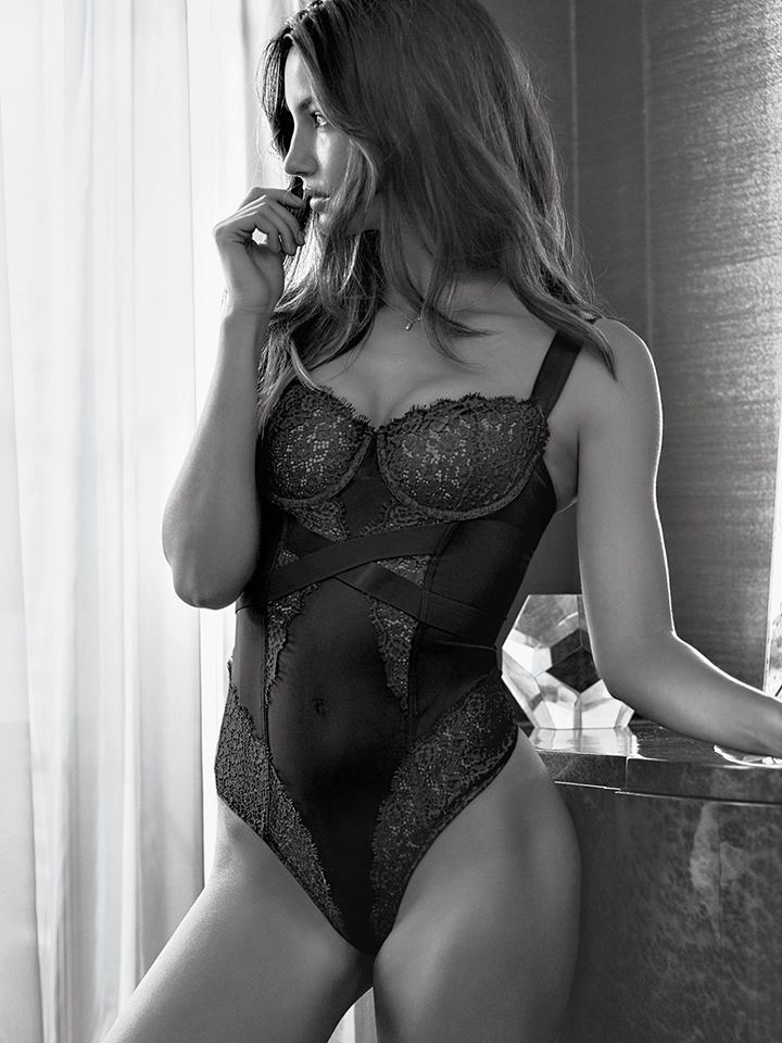 17f3439c766d2 Straps on lace on mesh AKA lingerie goals AKA this seriously hot teddy. YW.  | Victoria's Secret Banded Teddy