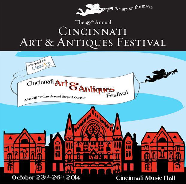 The 49th Annual Cincinnati Arts & Antiques Festival at Music Hall, October 24, 25 & 26
