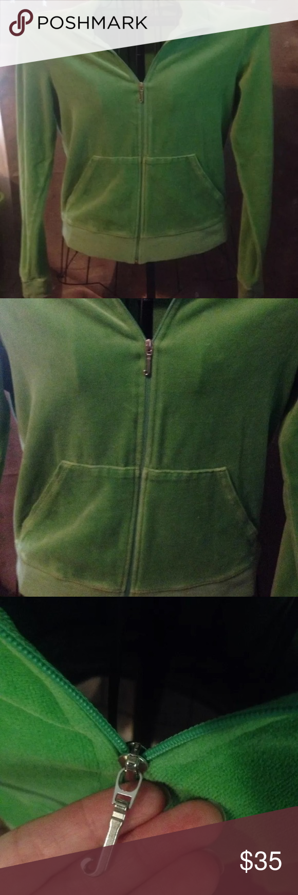 5f1be8fcd70a Juicy Couture Terry Cloth Track Jacket XL Green Juicy Couture Terry Cloth  Track Jacket! Size