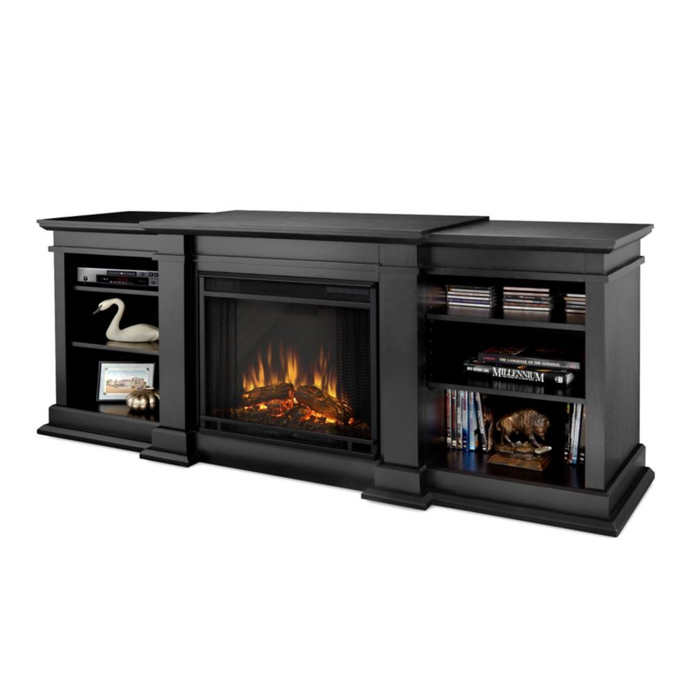 Fresno Electric Fireplace in Black Muebles