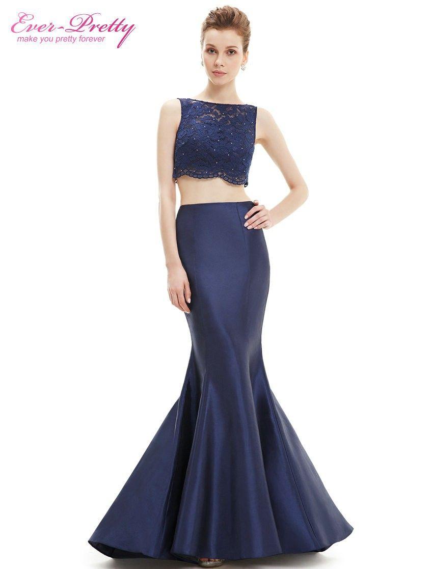Schwarz Lang Mermaid Abendkleider Haupt Recht 2016 Herbst Formal Plus Größe Zwei Stücke Maxi Partei Abendkleid HE08434