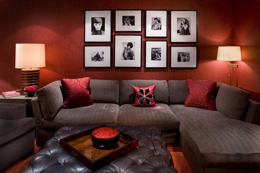 Earth Tones For Simplicity And Warmth Red Living Room Walls Burgundy Living Room Red Living Room Decor