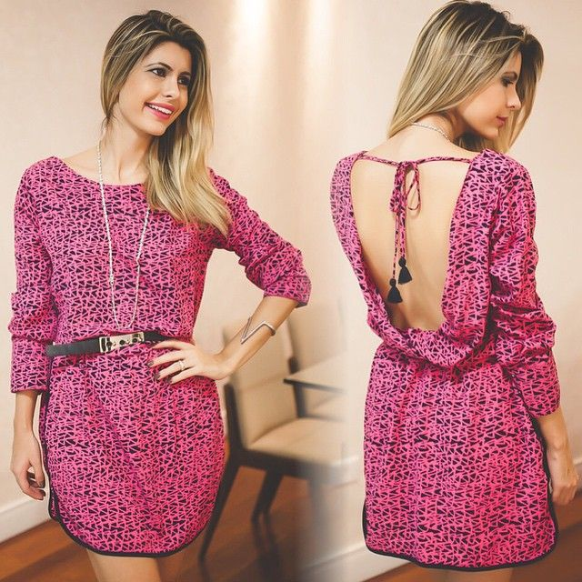 Vestido rosa maravilhoso da @raizzdamoda! Detalhe para a parte de trás do dress  #me #fashion #mystyle