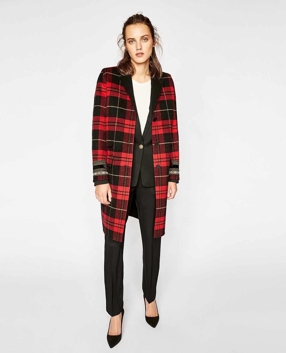 Checked wool mix coat THE KOOPLES WOMAN Plaid coat