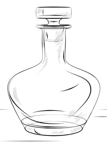 Bottle coloring page from Kitchen-ware category. Select from 20946 printable crafts of cartoons, nature, animals, Bible and many more.