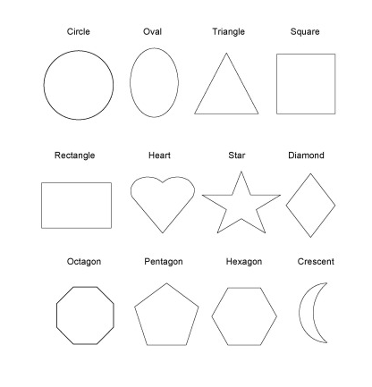 Printable Shape Coloring Pages For Preschoolers #1