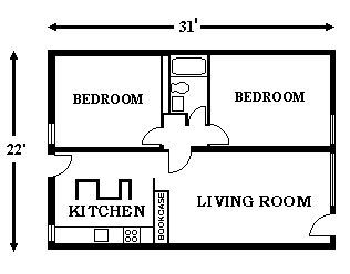 House Plans Small Apartment Layout 2 Bedroom Apartment Floor Plan Two Bedroom Apartments