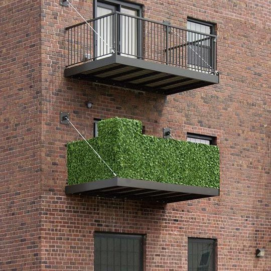Condo Living Design Ideas: Artificial Ivy Balcony Rail Hedge For Balcony Living At