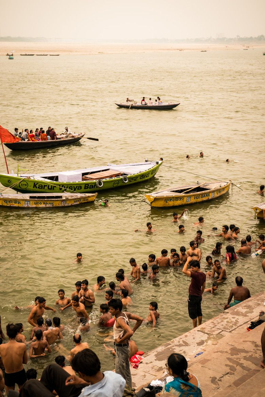 Ganges Bathers, Varanasi, India