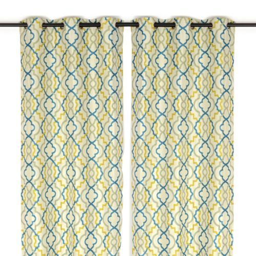 Marrakech Blue And Green Curtain Panel Set 96 In Blue Green